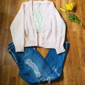 Lauren Brooke Vintage Cardigan Sweater Sz M